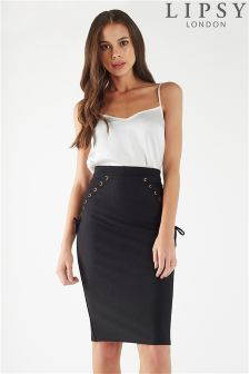 Lipsy Tie Up Pencil Skirt