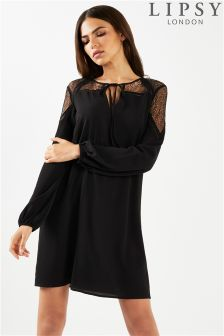 Lipsy Lace Top Shift Dress