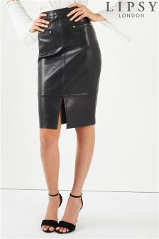 Lipsy PU Pencil Skirt