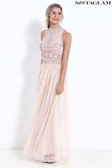 Sistaglam Beaded Maxi Dress