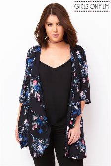 Girls On Film Curve Flare Sleeve Kimono
