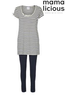 Mamalicious Maternity Stripe Nursing Pyjamas