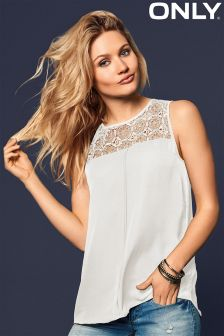 Only Lace Detail Top