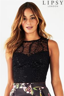 Lipsy Beaded Co-ord Crop Top