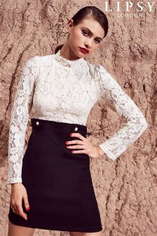 Lipsy 2 In 1 Lace Dress