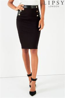 Lipsy Button Pencil Skirt