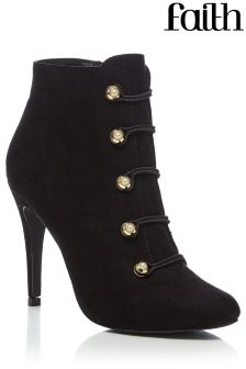 Faith Bless Pearl Heeled Boots