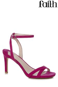 Faith Pink Heeled Sandals