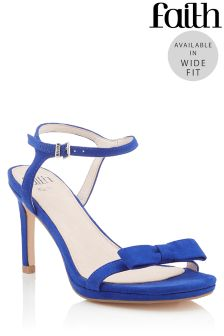 Faith Wide Fit Bow Sandals