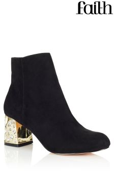 Faith Embellished Heel Ankle Boots