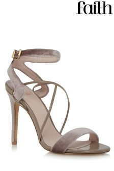 Faith Velvet Strappy Sandals