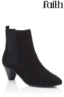 Faith Peg Heel Ankle Boots