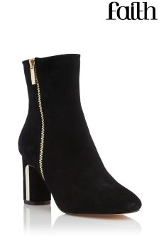 Faith Metal Heel Ankle Boots