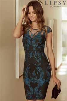 Lipsy Embroidered Bodycon Dress