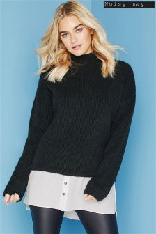 Noisy May Knitted High Neck Jumper
