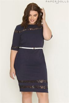 Paper Dolls Curve Lace Panel Dress