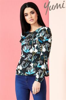 Yumi Lily Snowdrop Print Top