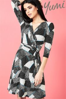 Yumi Pop Jersey Wrap Dress