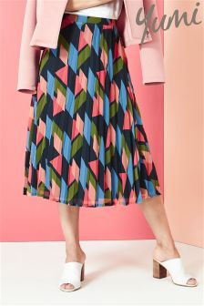 Yumi Geo Pleated Skirt