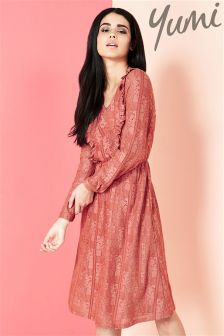 Yumi Lace Ruffle Dress