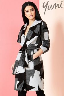 Yumi Mono Pop Waterfall Wrap Coat