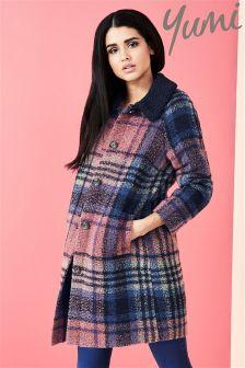 Yumi Check Coat