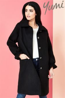 Yumi Coat With Ruffle Cuff