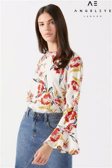 Angeleye Floral Print Blouse
