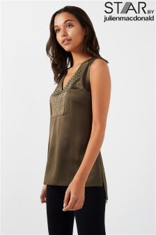 Star By Julien Macdonald Satin V neck Top