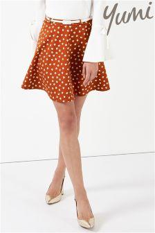 Yumi Daisy Print Skirt