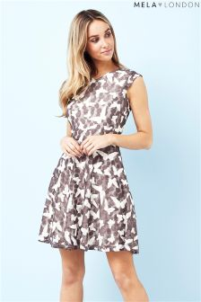 Mela London Butterfly Print Mini Dress