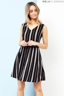 Mela London Striped Skater Dress