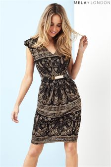 Mela London Printed Belted Dress
