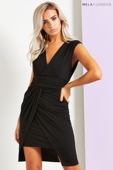 Mela London Wrap Waterfall Dress