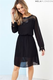Mela London Embroidered Shift Dress