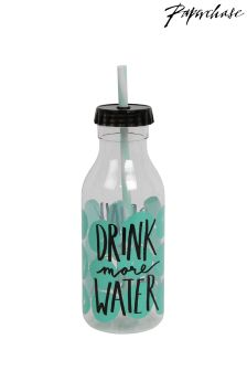 Paperchase Drink More Water Milk Bottle