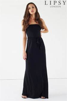Lipsy Bandeau Maxi Dress With Tie