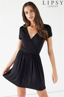 Lipsy Short Sleeve Wrap Dress