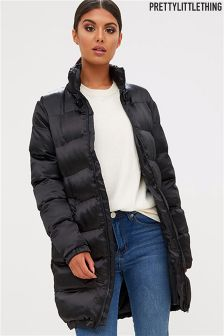PrettyLittleThing Lexi Long Puffer Coat