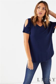 Lipsy V neck Tie Sleeve Top