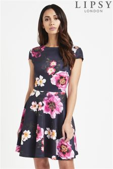 Lipsy Floral Printed Skater Dress