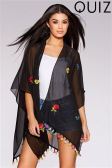Quiz Tassel Kimono