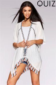 Quiz Aztec Tassel Kimono