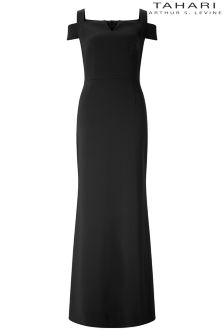 Tahari Cold Shoulder Maxi Dress