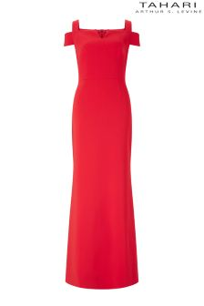 Tahari Cold Shoulder Maxi Dress
