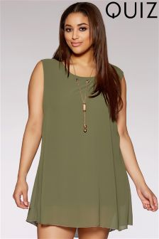 Quiz Curve Chiffon Necklace Tunic Dress