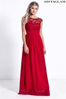 Sistaglam Lace Bridesmaid Maxi Dress