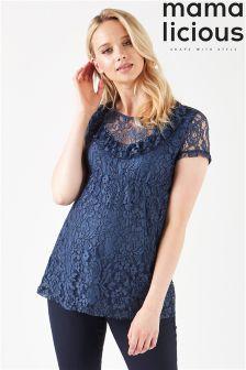 Mamalicious Maternity Woven Lace Top