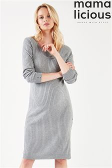 Mamalicious Maternity Long Sleeve Knitted Dress