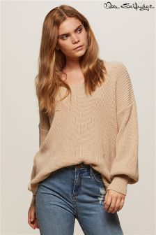 Miss Selfridge Twist Back Balloon Sleeve Jumper